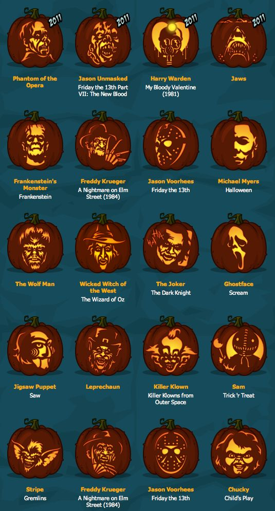 Pumpkin Carving Horror Movie Freak Style