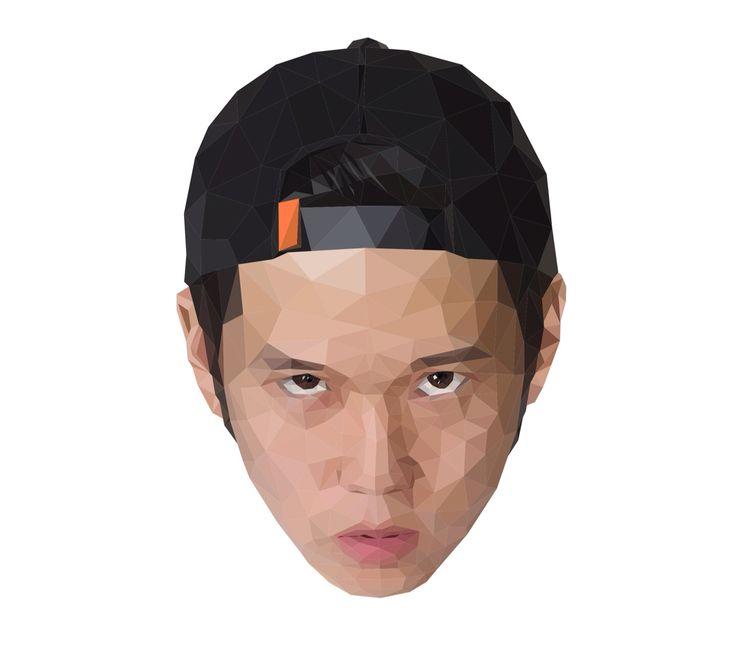 Face graphic illust/ portfolio profile photo 포트폴리오 프로필에 사용하려고 제작한 그래픽
