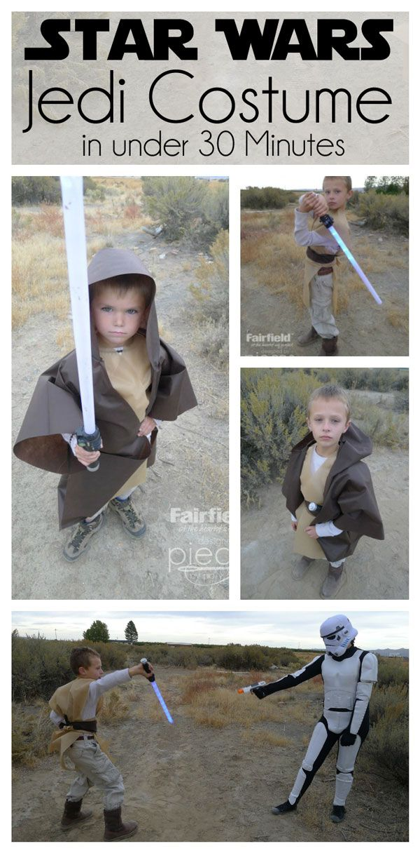 easy jedi costume using olyfun just a little sewing and it can be jedi costumehalloween decorationshalloween
