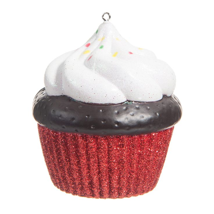 Cupcake rouge Chantilly   - Vendu par 6