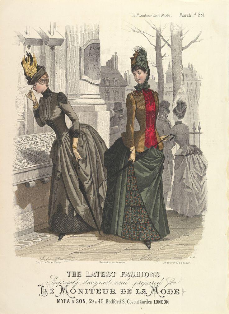 march 1887 le moniteur de la mode ryciny fashion. Black Bedroom Furniture Sets. Home Design Ideas