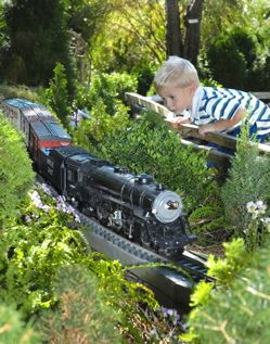 Welcome to garden railroading! A hobby that combines model trains with the outdoors. One of the wonderful things about this hobby is that there is something for every skill level, from building locomotives and rolling stock, small-scale gardening, electronics and battery power, creating structures, and much more. Check out more from the Garden Train Association. http://emfl.us/xTEd Wonderful family hobby.