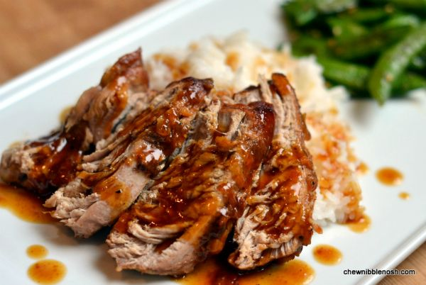 This was so easy, and so good! Slow Cooker Pork Tenderloin with Orange Hoisin Glaze - #recipe at Chew Nibble Nosh