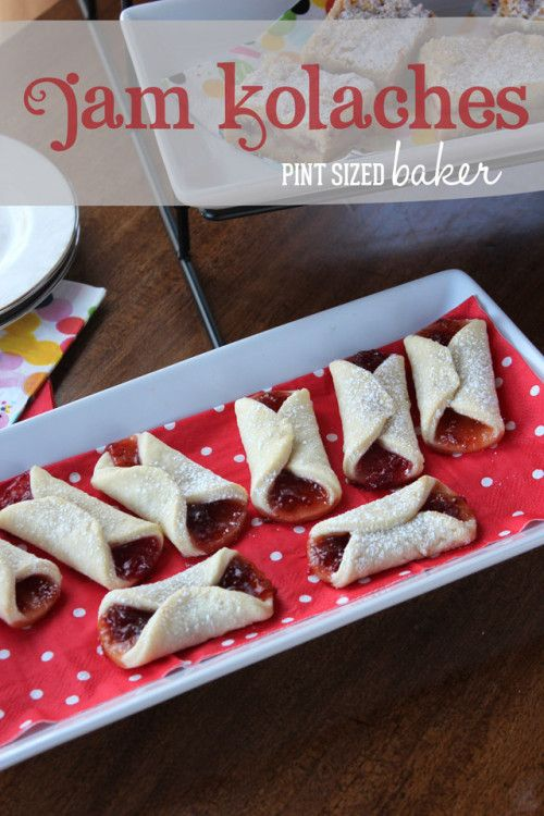 Jam Kolaches Recipe from Pint Sized Baker #BringtheCOOKIES. These look super easy and I bet their great with rhubarb jam.