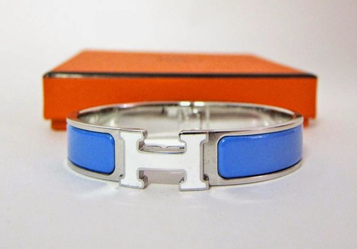 Love-Bags : Hermes Blue Transat White Lacquer H Clic Bracelet ...