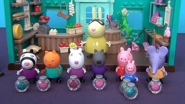Peppa Pig en français. Peppa et ses amis jouent dans la boutique. Peppa ...