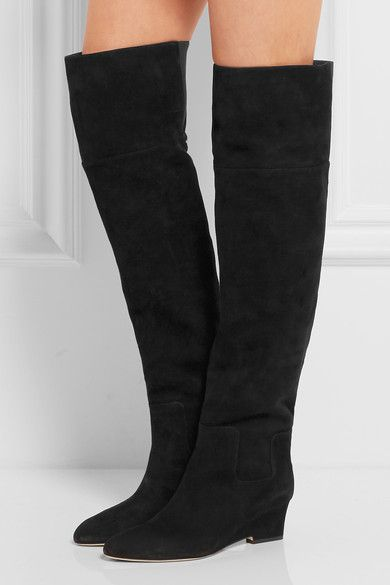 Jimmy Choo | Marcie suede over-the-knee boots | NET-A-PORTER.COM