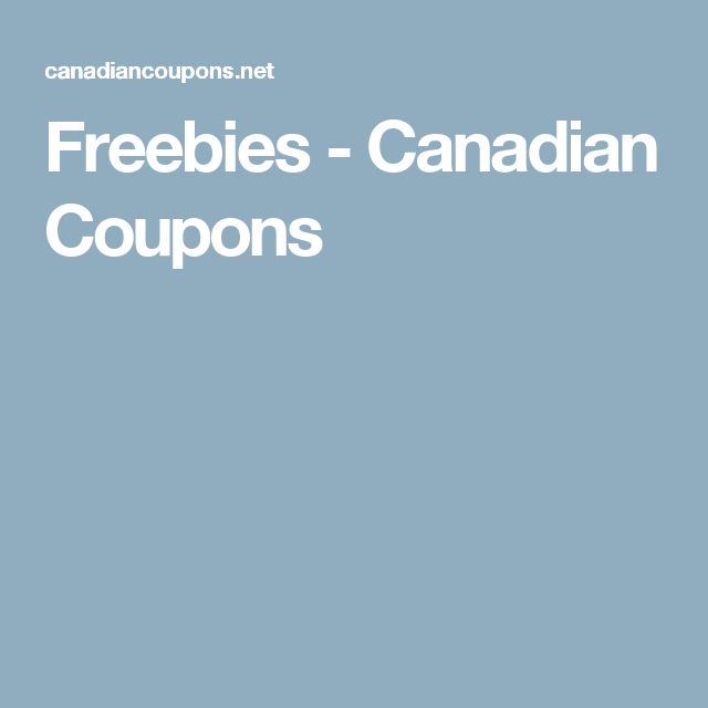 Freebies - Canadian Coupons