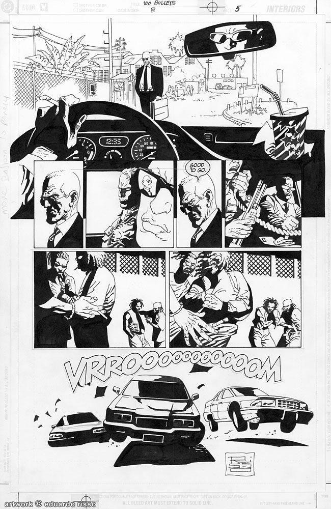 100 Bullets #008 pg.05 Comic Art