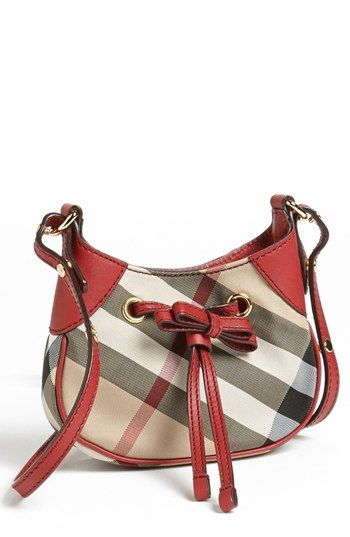 Free shipping and returns on Burberry Crossbody Bag (Girls) at Nordstrom.com. Rich red faux leather complements the iconic check design of a covetable crossbody bag designed for little fingers.