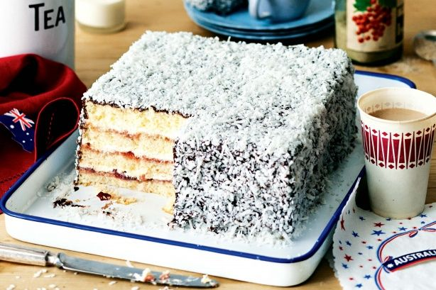 This gigantic lamington triples the ratio of jam and cream to sponge making it at least 3 times as good!