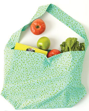 take a recycled pillow case bag to the grocery store and cut down on plastic.