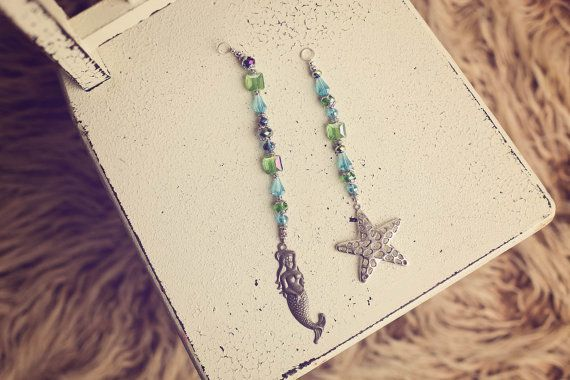Starfish Sun Catcher Mermaid Sun Catcher by TiffanyGreenDesigns