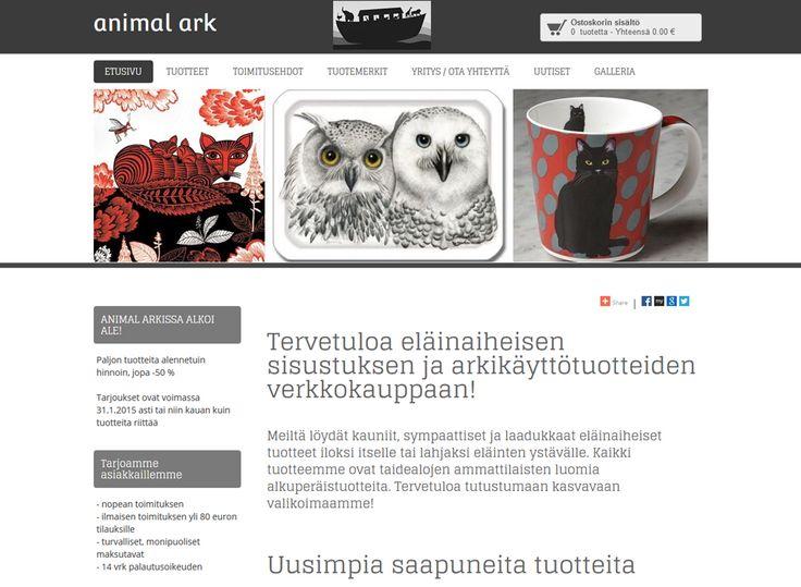 Animal Ark on eläinaiheisen sisustuksen ja arkikäyttötuotteiden verkkokauppa.