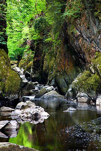 Fairy Glen in Spring Betws y Coed Snowdonia Wales