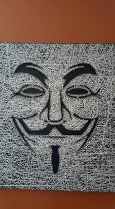Check out this item in my Etsy shop https://www.etsy.com/listing/385944702/string-art-guy-fawkes