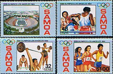 Samoa 1984 Olympic Games Fine Mint SG 678/81 Scott 629/32 Other South Pacific and British Commonwealth Stamps HERE!