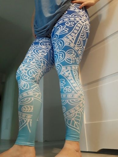 45290158be First Class Mandala Ombre Blue Printing Leggings Mandala Leggings, Mandala  print leggings, mandala leggings
