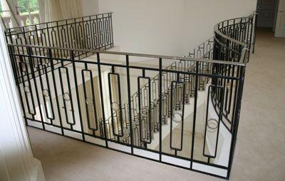 MIld steel balustrading in Weybridge Surrey