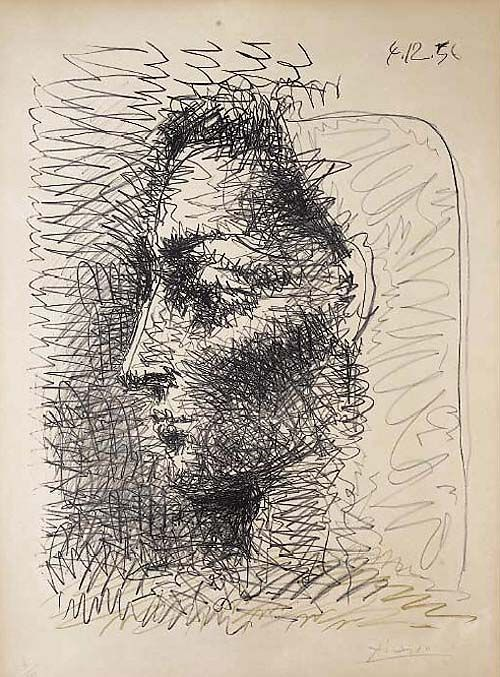 """Jacqueline"" drawing by Picasso"