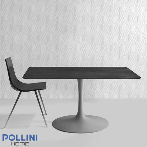 #tavolo con ripiano in #ceramica in nero marquinia per #cucina #living #camera #ufficio.