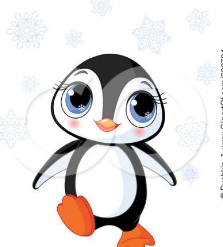 Cute baby penguin colo...