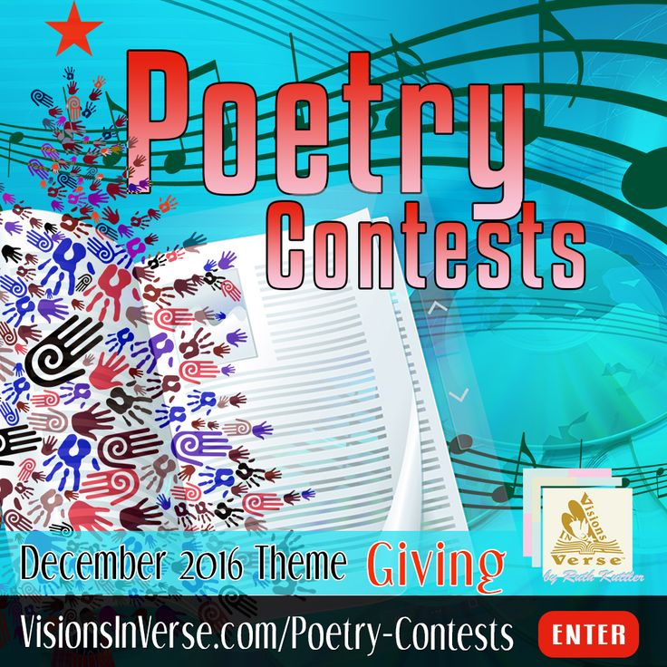 Enter a creative writing poetry contest where your poem is 20 lines or less on the topic of giving.  If you're a poet, song writer, rapper, inspirational or other creative writer, participate in a new kind of poetry contest where you can submit any style of creative writing as a poem on a given theme.
