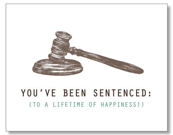 Law-themed wedding greeting card
