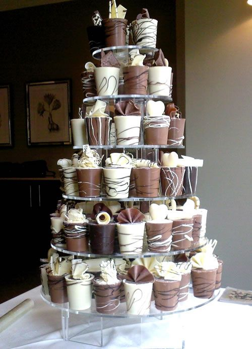 Chocolate Decorated Cups-wedding/party favours
