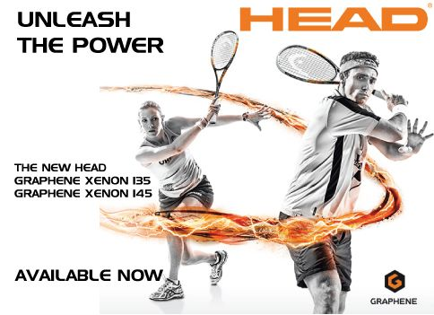 UNLEASH THE POWER!!! New Head Racquets now available at SQUASH.COM.AU  HEAD GRAPHENE XENON 135 HEAD GRAPHENE XENON 145 Xenon Series Racquets - STATE-OF-THE-ART RACQUETS FOR AMBITIOUS PLAYERS.