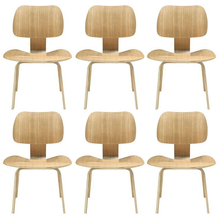 Fathom dining chairs set of 6 eei 910 nat by lexmod 696 for Bureau edf 64