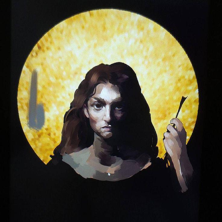 Still painting Archangel Michael ...#archangel #archangelmichael #portrait #god #sonsofgod