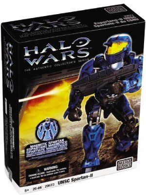 "Mega Bloks Halo Wars Mega Bloks UNSC Spartan-II (Blue) by Mega Brands America Inc. - Megabloks - Fife. $39.95. 26 quick build and interchangeable parts for authentic builds and customized units. Blue MJOLNIR Mark V armor, helmet and assault rifle.. 26 pcs build. Magnetic action figure based on the super soldier Spartans from the award-winning Halo video game series!. Encourages immersive story-telling and role-playing. From the Manufacturer                ""Activated by the ..."