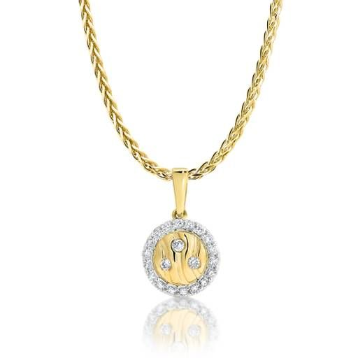 Dreamtime 9ct Yellow Gold Diamond River Cluster Pendant