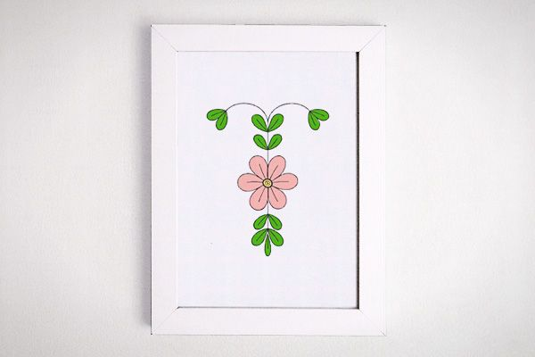 Letter T Initial Flower Print - I changed the colors to match Talia's room . . .