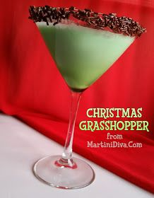 CHRISTMAS GRASSHOPPER Chocolate Mint COCKTAIL RECIPE for the Holidays ...