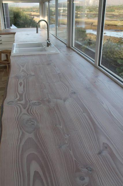 Woca Worktop Oil White Finish On Wood Kitechen Countertop