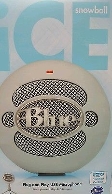 Best BLUE MICROPHONES SNOWBALL ICE Snowball iCE USB Microphone Plug & Play Used