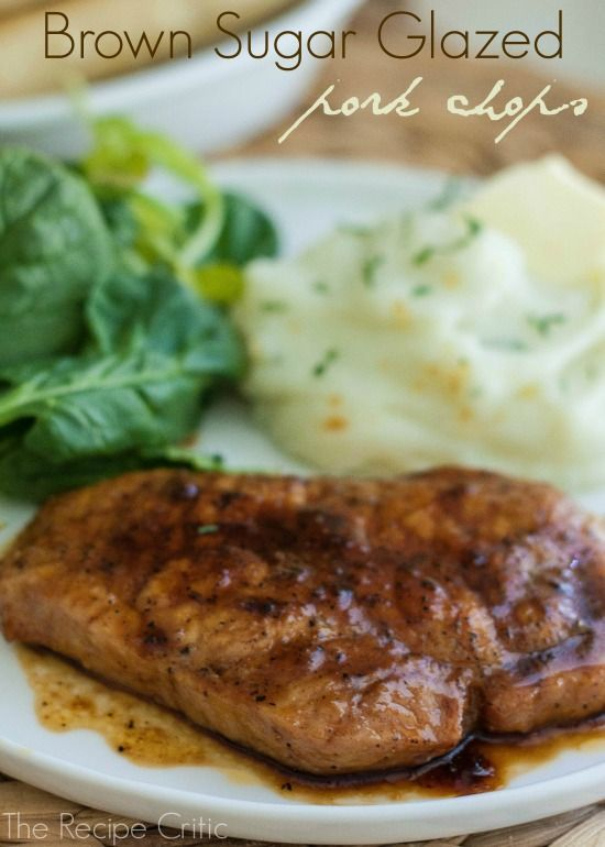 Brown Sugar Glazed Pork Chops. These were the quickest, easiest things ever! And tasty.  (Boneless pork chops, light brown sugar, garlic powder, paprika, salt, black pepper, olive oil)