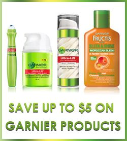 Save Up to $5 on Garnier Products