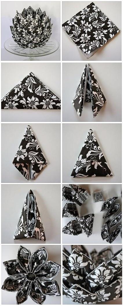 Original way to fold napkin