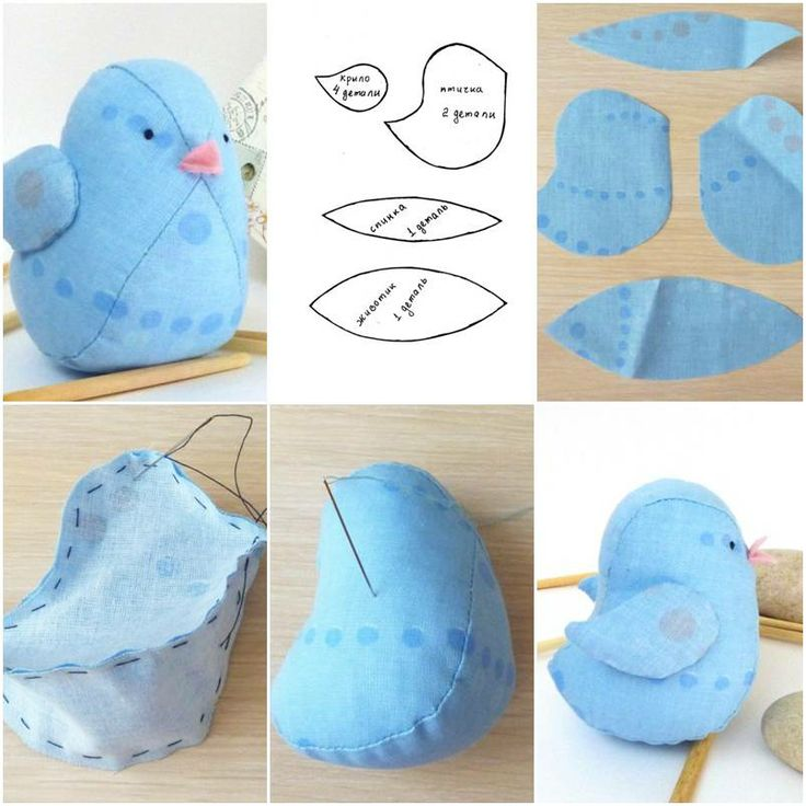 How to make little fabric bird doll step by step diy for Homemade crafts for sale