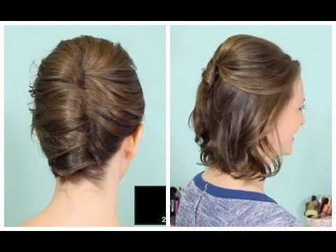 ▶ French Twist & Half Updo for Short hair! - YouTube
