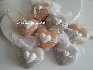Cuori profumati in polvere di ceramica romantici