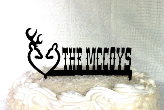 Doe And Buck Wedding Cake Topper Country Western Wedding Cake Topper Western Wedding Topper Deer