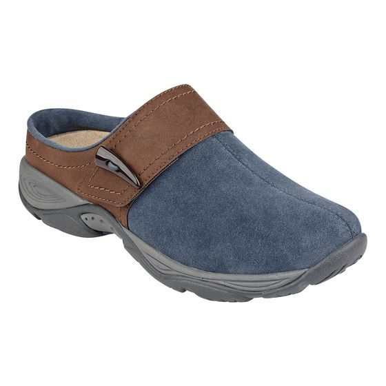 The Eliana clogs feature soft suede uppers and removable insoles designed  to provide you with all