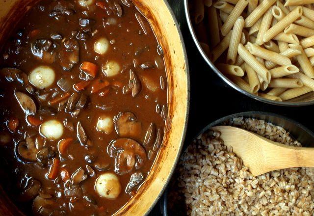 Mushroom Bourguignon - Vegan