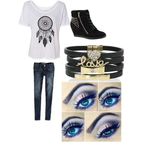 """Cute, edgy outfit"" by wheatstineashton on Polyvore"