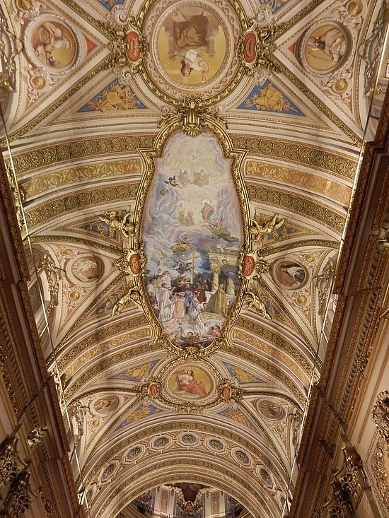 Cathedral ceiling in Cordoba, Argentina