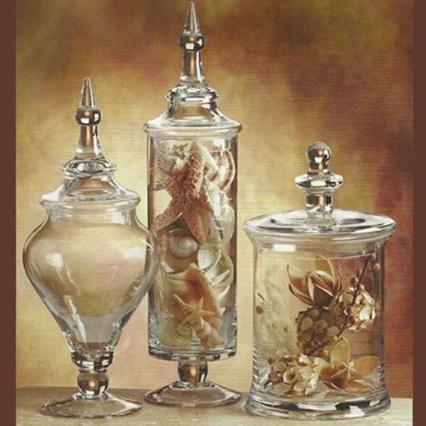 Apothecary Jars Filled With Shells Quot Beach House By Iron